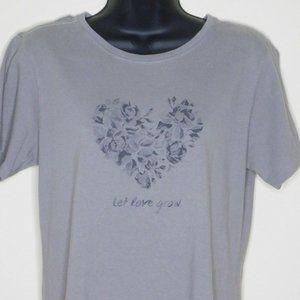 Life is Good let love grow T Shirt Sz M